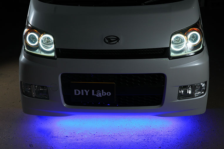 LEDテープライト取り付け後のアンダーLED